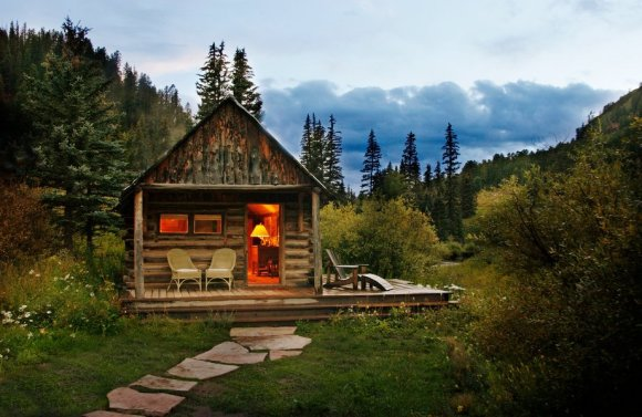 6 The cabins of Dunton Hot Springs, an abandoned mining town and natural hot springs turned luxury resort in the San Juan Mountains of southwestern Colorado